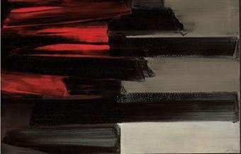 Pierre Soulages Peinture 97 x 130 cm 15 août 1961