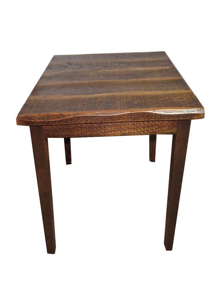rustic barn wood 42 high pub table 40x40 top rustic bar stools pub tables pinterest. Black Bedroom Furniture Sets. Home Design Ideas