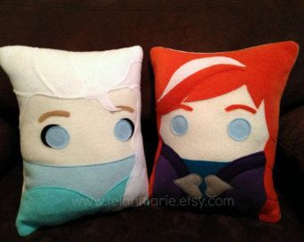 Frozen pillow, Anna and Elsa, frozen, pillow, plush, cushion