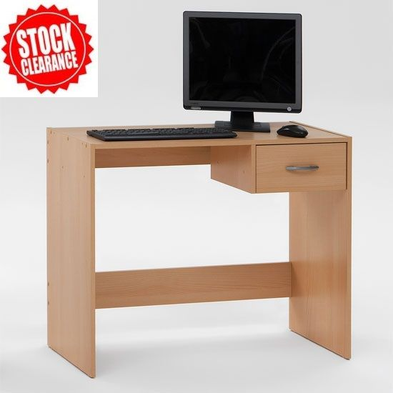 Childrens Home #ComputerDesk, Pascal ,Features :  • Stylish beech computer desk with a drawer • #Desk with 1 drawer in a beech finish • Ideal for both home or work with lots of space • Melamine surface provides the ultimate in protection against heat & scratches  £29.95