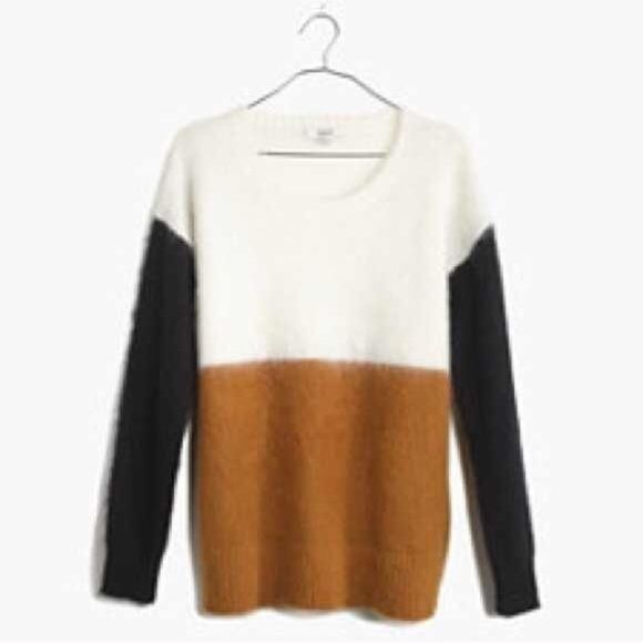 ISO!!! Madewell Colorblock sweater I am looking for this particular Madewell colorblock sweater.  It also comes in the ivory, red and navy combo, but I am only looking for what is pictured.  Thanks so much!! Madewell Sweaters