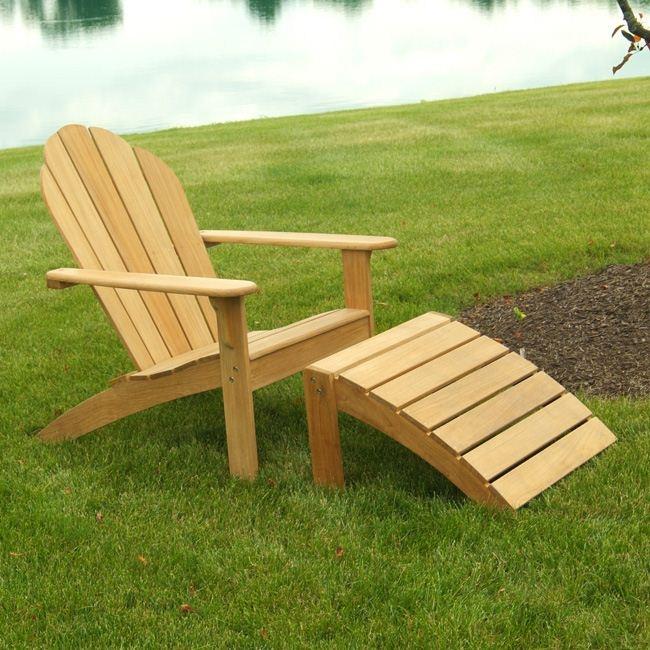 Red Hook Teak Adirondack Chair And Footstool 260 00
