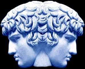 In ancient Roman religion and mythology, Janus is the god of beginnings and transitions, thence also of gates, doors, doorways, endings and time. He is usually a two-faced god since he looks to the future and the past. The Romans dedicated the month of January to Janus.