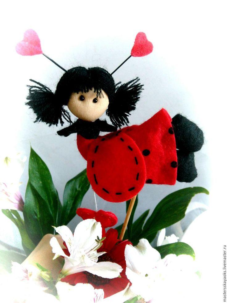 Купить Куколка Фея цветов Эльза - ярко-красный, подарок девушке, подарок