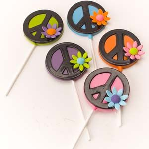 Peace cookies on a stick from CKSA