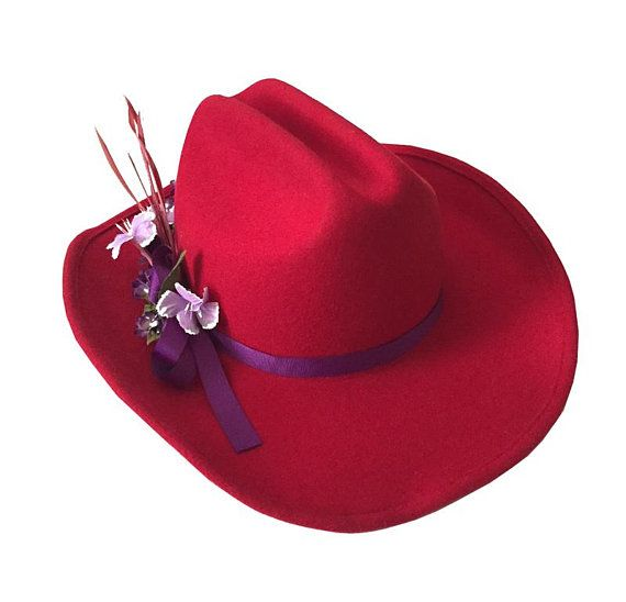 Red Scala Wool Felt Cowgirl Hat   Wide Brim Scala Wool Felt Women s Hat    The a58a09497cb