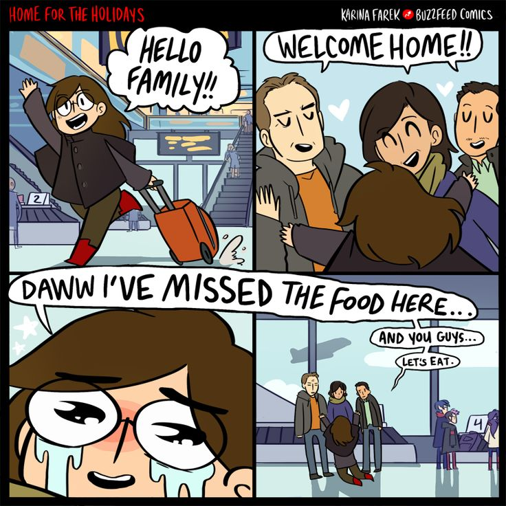 anime memes buzzfeed: The Best Part Of Going Home For The Holidays.