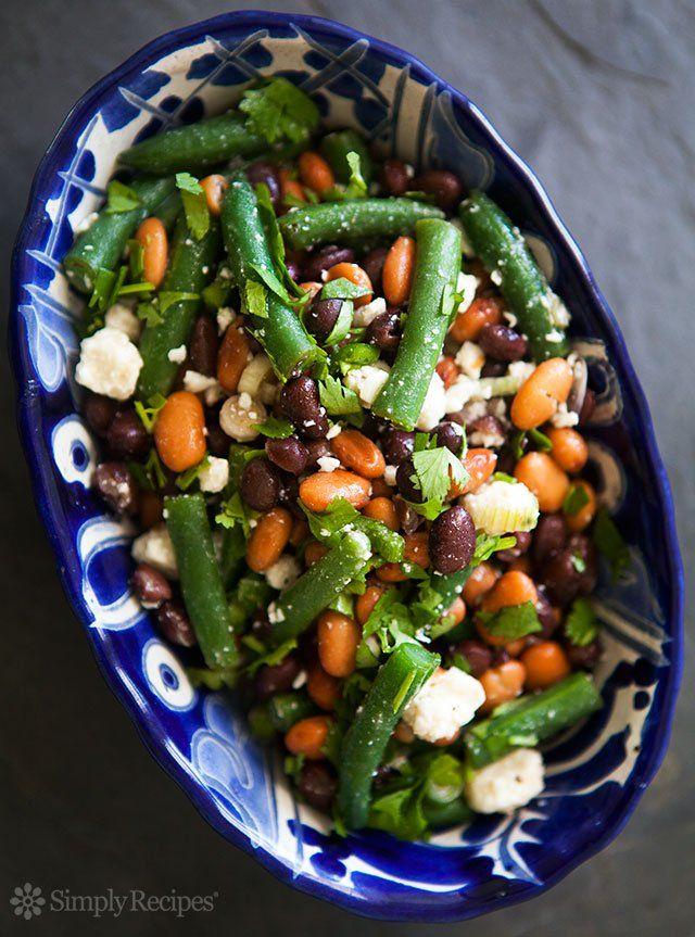 Mexican Three Bean Salad Simplyrecipes Com Recipe Three Bean Salad Bean Salad Recipes Cilantro Recipes