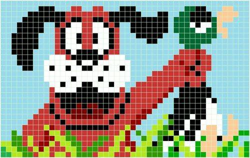 duck hunt hama beads pattern