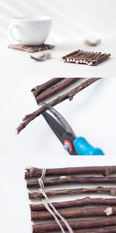 Trash to Treasure: DIY Branch Tasse Matten, so einfach! #DIY #trashtotreasure #branc …   – Junk rat