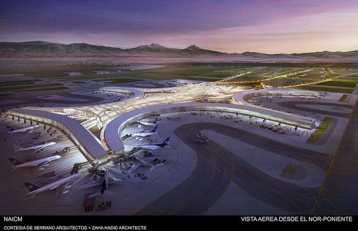 Propuesta del Nuevo Aeropuerto Internacional de México Serrano Arquitectos   Zaha Hadid Architects http://www.arquitexs.com/2014/09/Serrano-Arquitectos-Zaha-Hadid-propuesta-Aeropuerto-Mexico.html