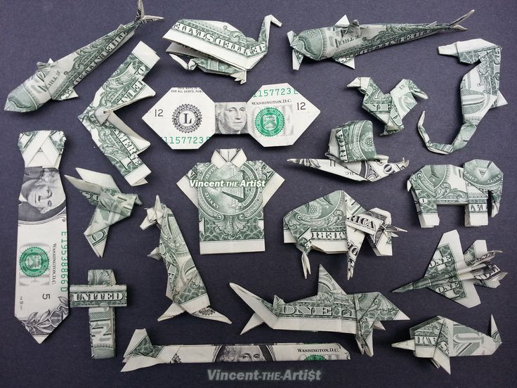 Money Origami - Various Designs