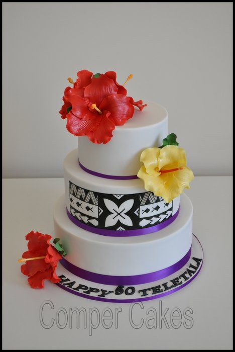 Samoan pater birthday cake - by Comper Cakes @ CakesDecor.com - cake decorating website