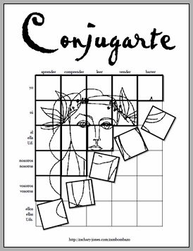 Conjugating Spanish verbs- art tiles @Eliana Michalko Soto I have used this and it is awesome
