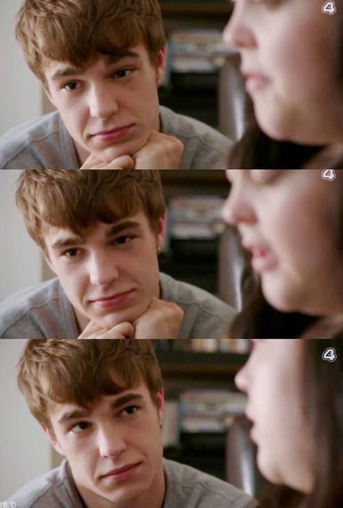 Somehow he makes me feel better about myself just by watching my mad fat diary, he makes me smile and my heart skips a beat when I see a picture of him❤