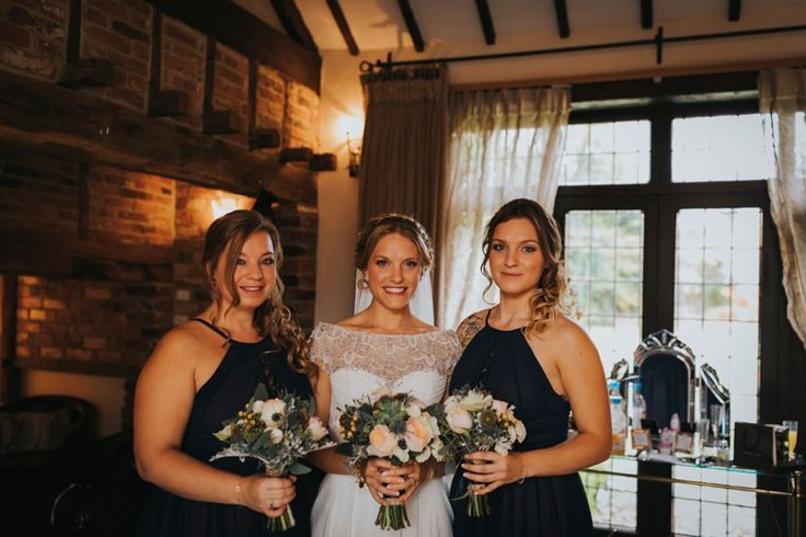 Nothing like having your sisters with you on your big day. Photo by Benjamin Stuart Photography #weddingphotography #bride #bridesmaids #sisters #weddingbouquet #weddingday