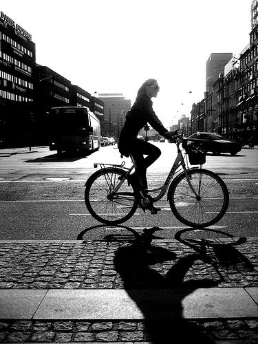 Copenhagen Bicycle Cyclhouette by Mikael Colville-Andersen (just beautiful!)
