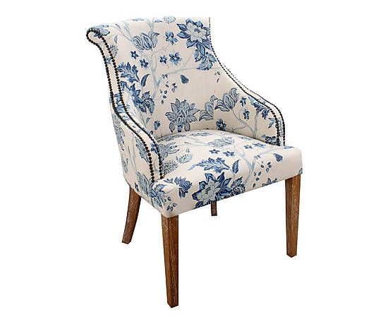 Fauteuil Eleonora, blauw/wit, B 64 cm 259€ / westwing.be