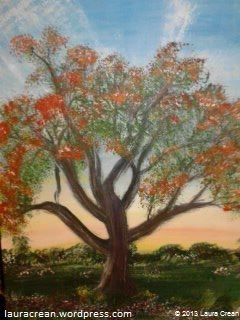 Red Tree in Purple Meadow http://lauracrean.wordpress.com/
