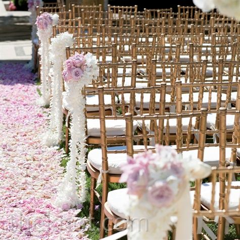 A Couture Romantic Wedding in Dana Point, CA - Pink Floral Aisle Decor