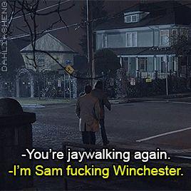 Supernatural S10 gag reel. I'm Sam fucking Winchester!