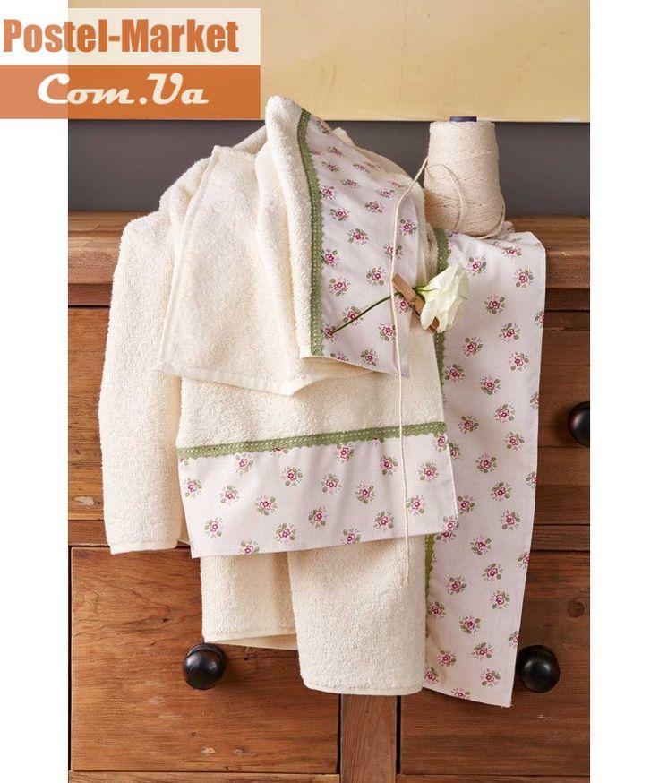 Махровое полотенце GLORY KREM-YESIL KARACA HOME купить в интернет магазине Постель Маркет (Киев, Украина )