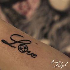 Soccer love tattoo ❤️⚽️