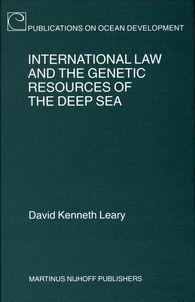 Ebook BLP via Dawsonera (2008) éditeur : http://www.brill.com/international-law-and-genetic-resources-deep-sea