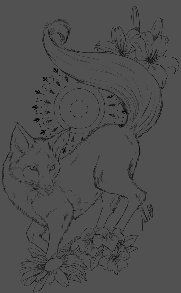 Fox [ Tattoo Design] by JulietEssence on DeviantArt
