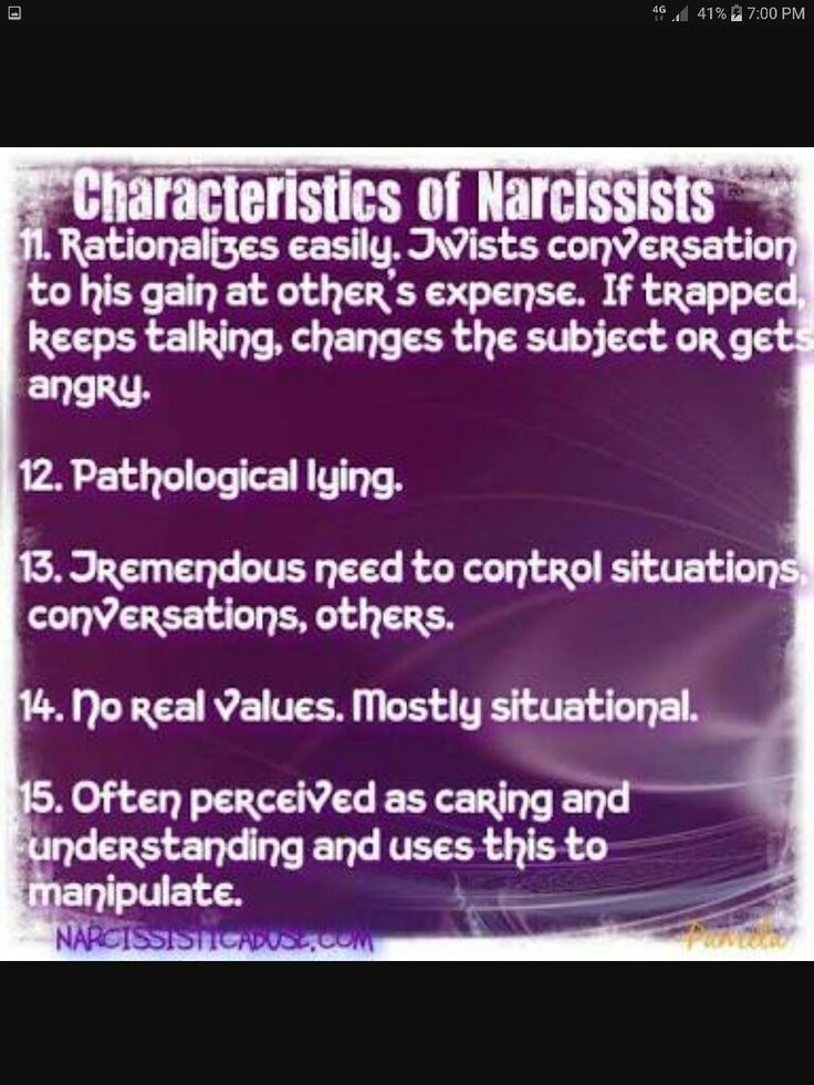 Characteristics of Narcissists  ( 11 - 15 )
