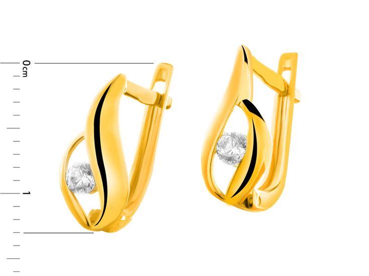 Złote kolczyki - wzór AP123-9348 / Apart