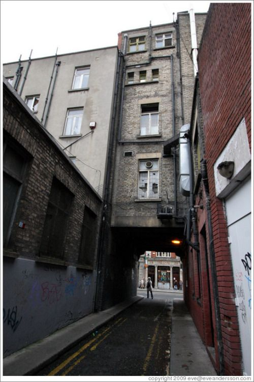 achelor's Way - dingy but practical little lane that links Bachelors Walk (entrance just beside the Bachelor Inn pub) on the quays and Middle Abbey Street (entrance between Supermacs and Book Worms).