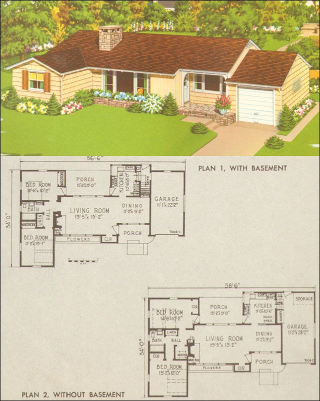 17 best images about ranch house on pinterest house for Mid century ranch home plans