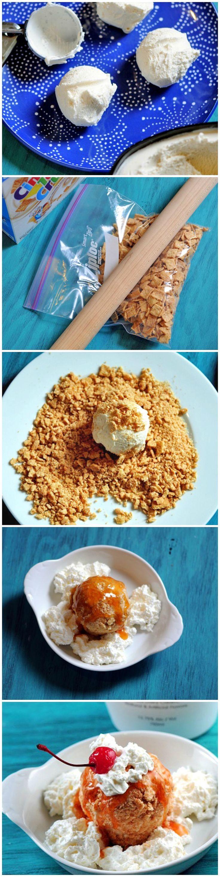 "Cinnamon Toast Crunch ""Fried"" Ice Cream"