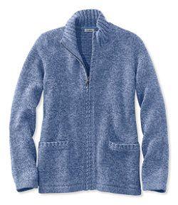 #LLBean: Marled Cotton Sweater, Zip Cardigan