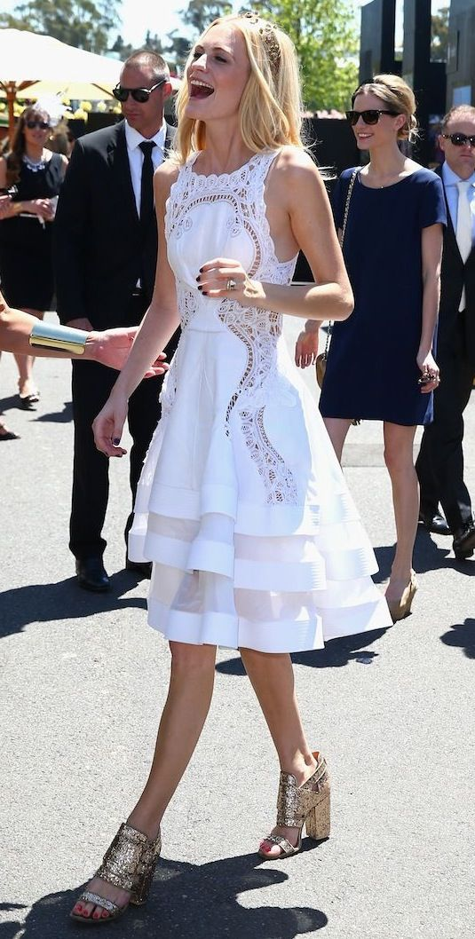 Poppy Delevingne on Victoria Derby Day in Melbourne, Australia