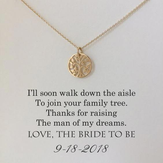 Mutter der Bräutigam-Halskette Mutter der Bräutigam-Geschenke # Hochzeiten   – Wedding ideas