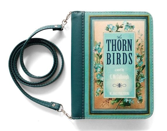 "Book clutch ""The thorn birds"""