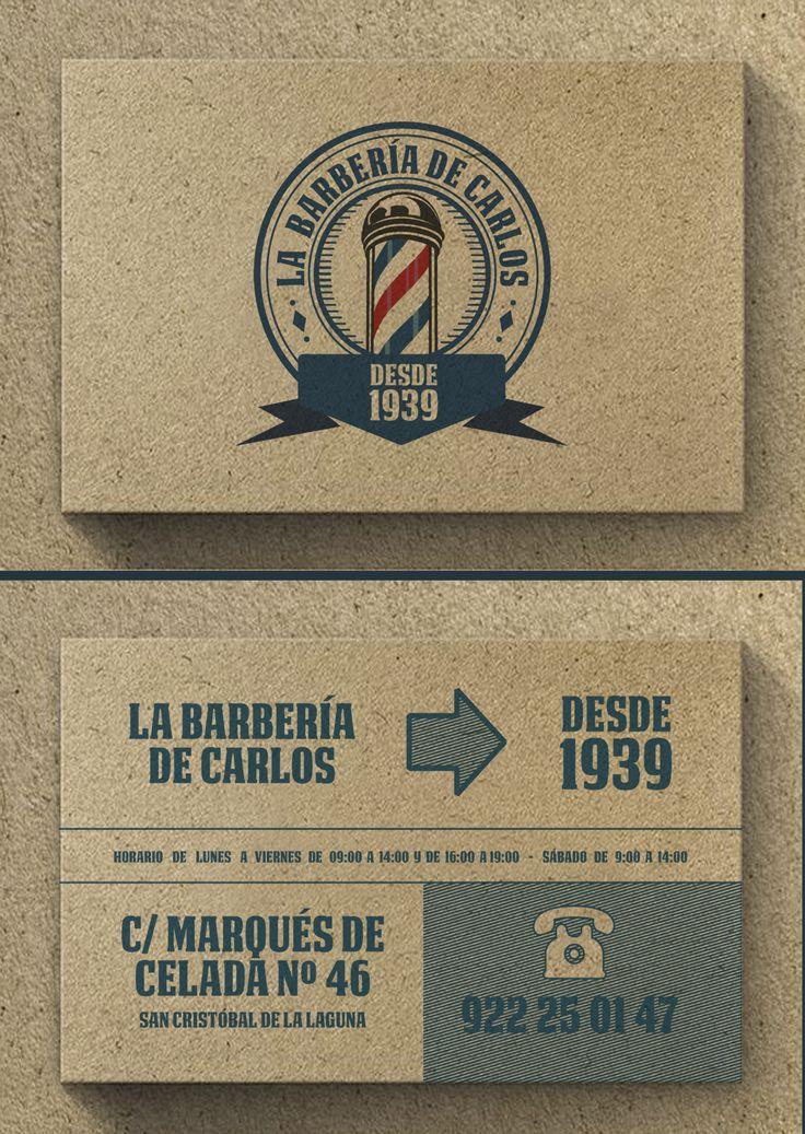 Trabajo realizado para La barbería de Carlos #tarjetasdevisita #diseñográfico #estudiodediseño #bussinesscards #graphicdesign