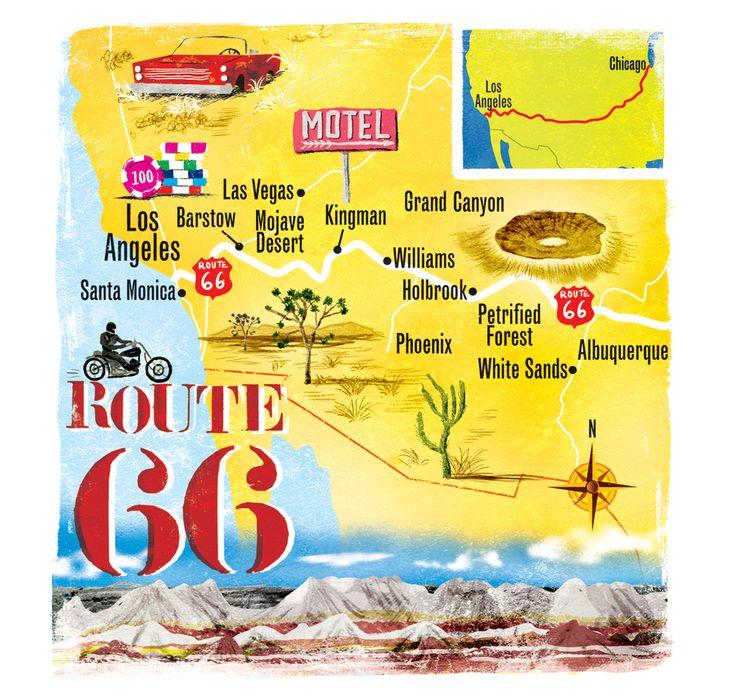 Scott Jessop Route 66 Map