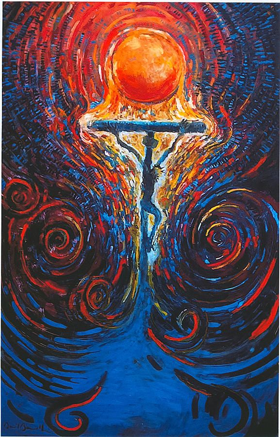 Jesus paid it all, all to Him I owe. (The Beautiful Mess painting by Daniel Bonnell)