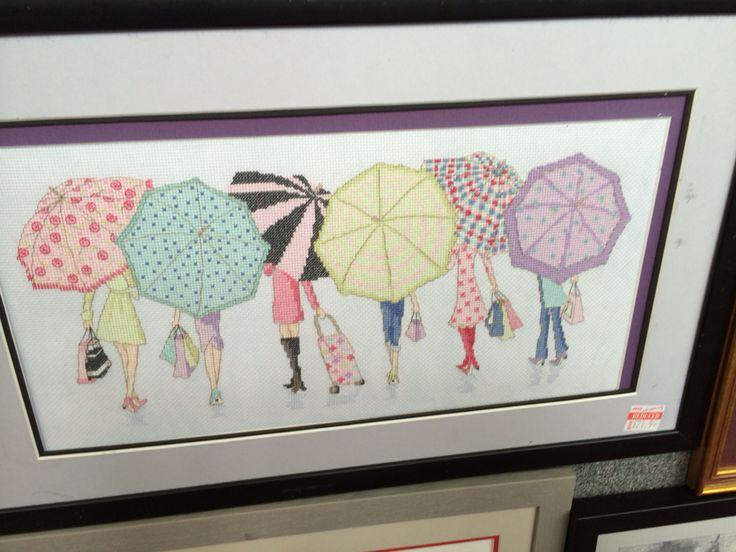 Cross stitch umbrellas