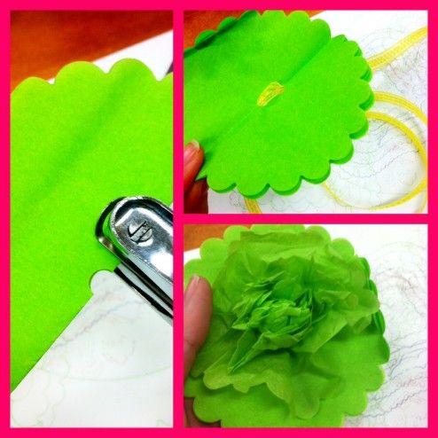 Fun craft for little girls: Craftabul Flower, Flower Templates, Tissue Paper Flowers, Decoration Idea, Crafts Fun, Crafts Idea, Fun Crafts, Crafts Tissue, Paper Crafts