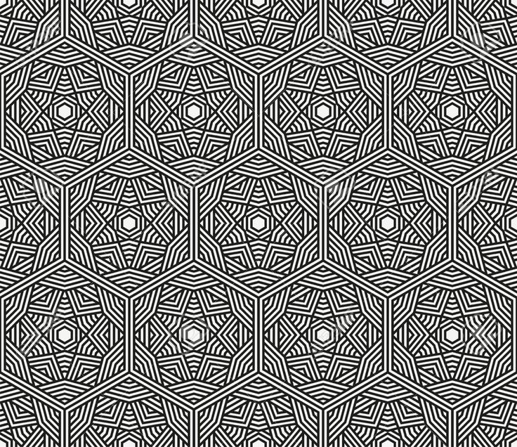 Seamless Negro Abstracto Geométrico Ilustración Modelo Ilustraciones…