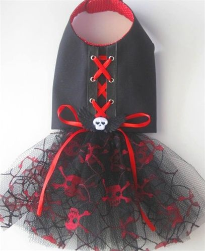 Gothic Girl Tutu Dog Dress