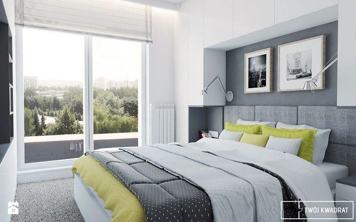 mieszkanie_Warszawa Praga - Średnia sypialnia małżeńska z balkonem / tarasem, styl nowoczesny - zdjęcie od Twój Kwadrat