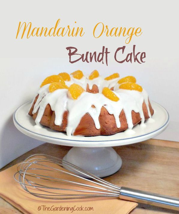 This Mandarin Orange Bundt cake is full of summer time freshness.  So Yummy! DoleCannedFruit AD @DolePackaged