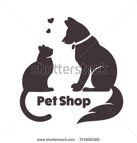 Dog Cat Silhouette Stock Photos, Images, & Pictures | Shutterstock