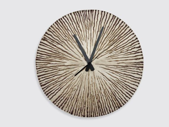 #gold #decor #home #clock #interior LARGE Gold WALL CLOCK  gold  bronze home decor gold clock