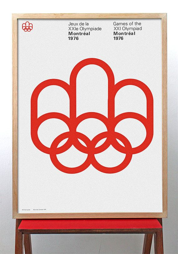 Montreal 1976 Olympics poster Mid Century Modern Typography Wall Art Olympic Games 现代艺术打印加拿大 /// FREE SHIPPING WORLDWIDE